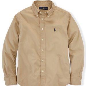 Ralph Lauren Men's Tan Button Down Shirt